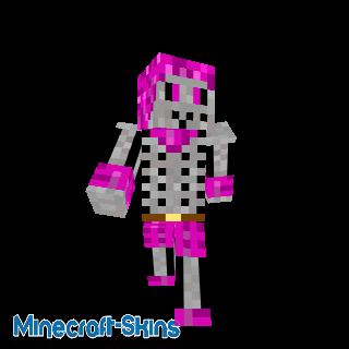 Squelette rose