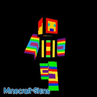 Personnage multicolore
