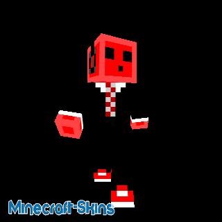 Slime rouge avec casque