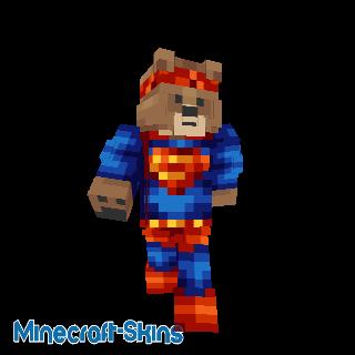 Ours déguisé en Superman
