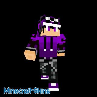 Garçon cool en violet