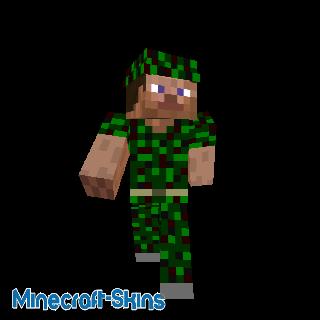 Steve en uniforme militaire