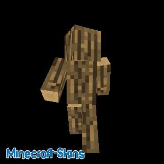 Tronc de chêne humain