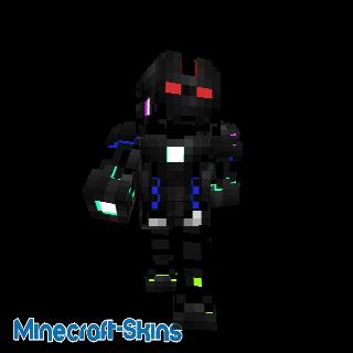 Robot avec nano armure multicolore