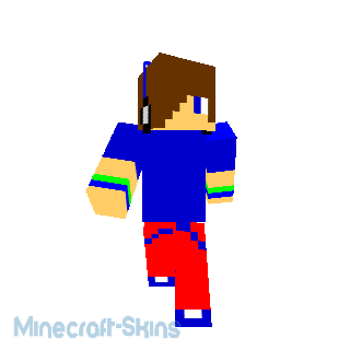 Ado Bleu  et Rouge Minecraft