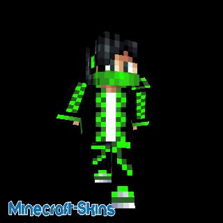 Minecraft green hoodie skin