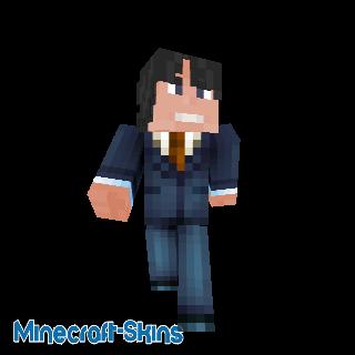 Homme d'affaire en costume bleu