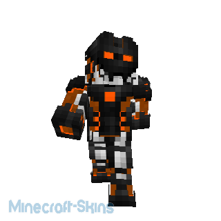 Robot avec nano armure orange