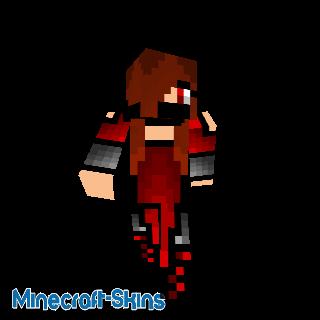 Fille ninja rouge avec capuche