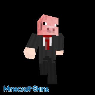 Cochon en costume