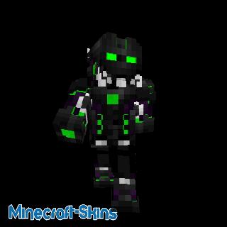Robot avec nano armure verte