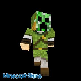 Link avec un masque Creeper - Zelda