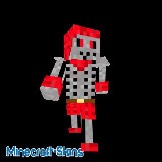 Squelette rouge