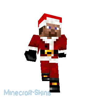 Steve en Père Noël