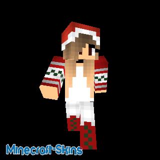 Christmas girl skin