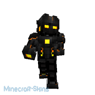 Robot avec nano armure jaune orange