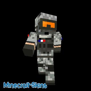 Soldat français avec des lunettes oranges