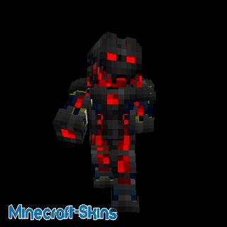 Robot avec nano armure rouge