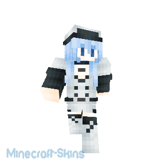 Fille en bleu et blanc