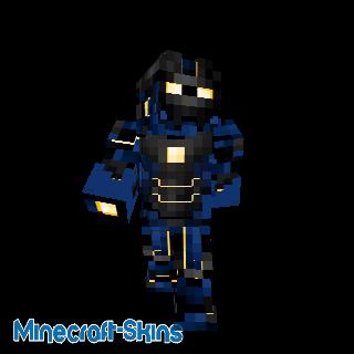 Robot avec nano armure bleu foncé