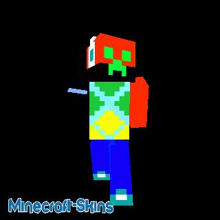 mon 1er skin minecraft avec kasque