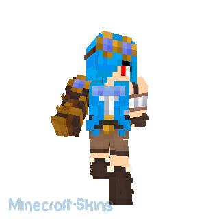 fille steampunk cheveux bleu