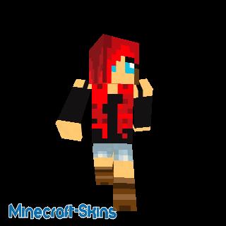 Fille aux cheveux rouge