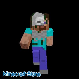 Squelette déguisé en Steve