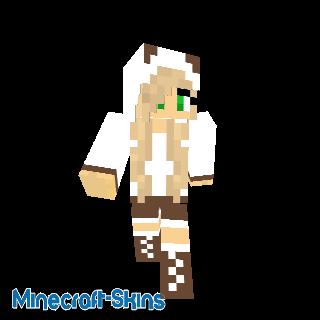 Fille panda brun