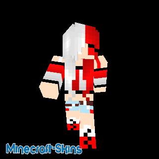 Fille blanche et rouge
