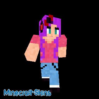 Fille cheveux violet