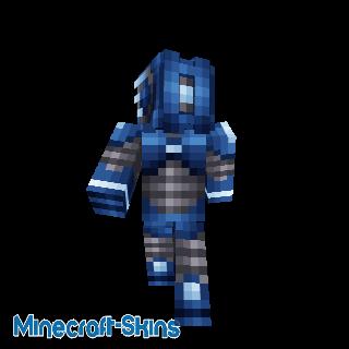 Robot bleu foncé