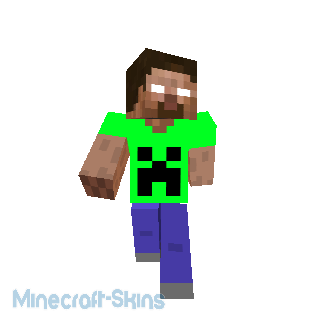 herobrine a t-shirt creeper