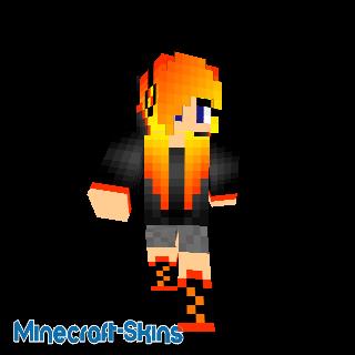Fille cheveux orange
