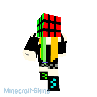 fille avec tete de rubis cube