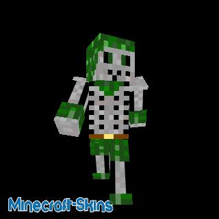 Squelette vert