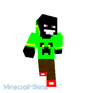 enderman avec gilet creeper