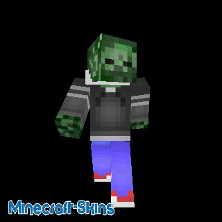 Zombie avec une capuche
