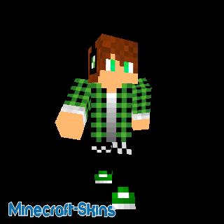 mec en chemise vert