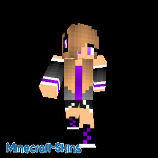 fille swag violette