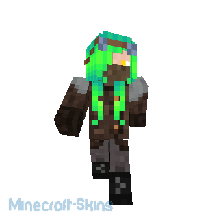 steampunk cheveux vert