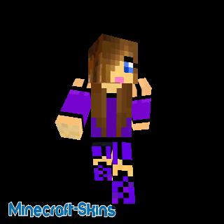 Fille en violet