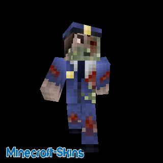 Policier zombie infecté