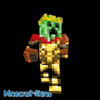 Roi Creeper en armure d'or et cape.