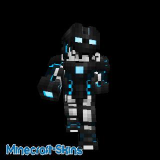 Robot avec nano armure bleu