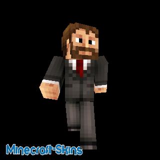 Homme barbu en costume cravate